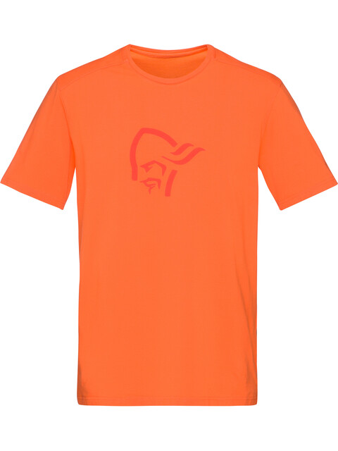 Norrøna /29 Cotton Logo - T-shirt manches courtes Homme - orange